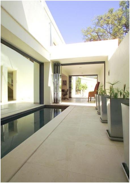 Contemporary house facade and home interior in Zagaleta, Spain