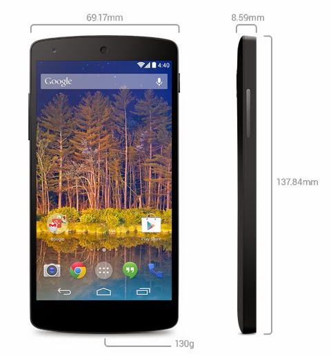 LG smartphone Nexus 5 4G LTE Noir Comparatif