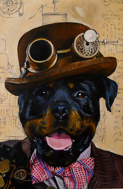 04-The-Steampunk-Splendid-Beast-Your-Animal-Friend-on-an-Oil-Painting-www-designstack-co