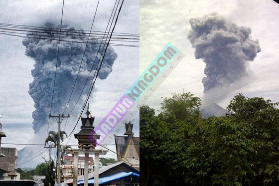 Foto dan Video Letusan Gunung Api Sinabung di Kabupaten Karo Sumatera Utara