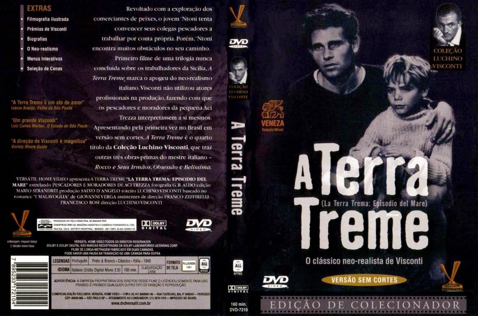 Capa DVD A Terra Treme