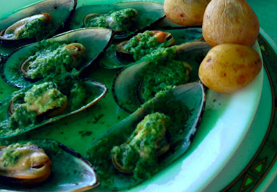 Garlic mussels at Los Caracolitos Salinas del Carmen