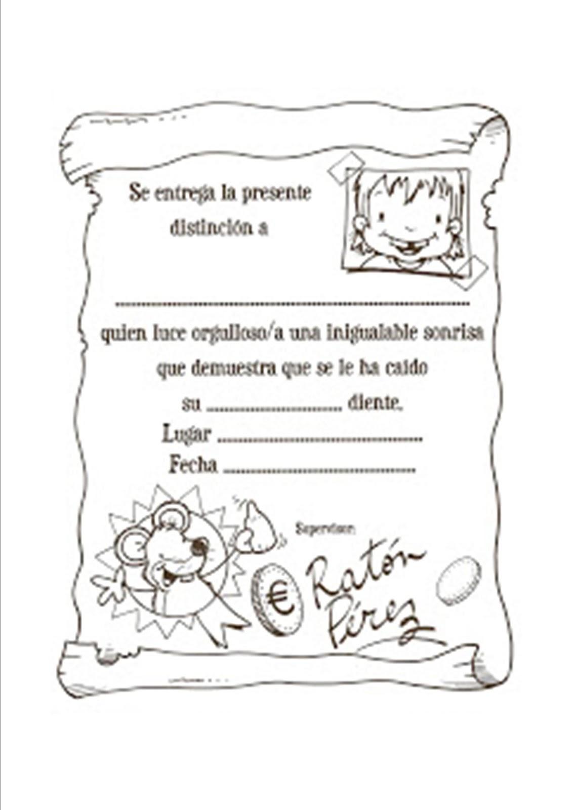 Raton Perez Certificados Gratis