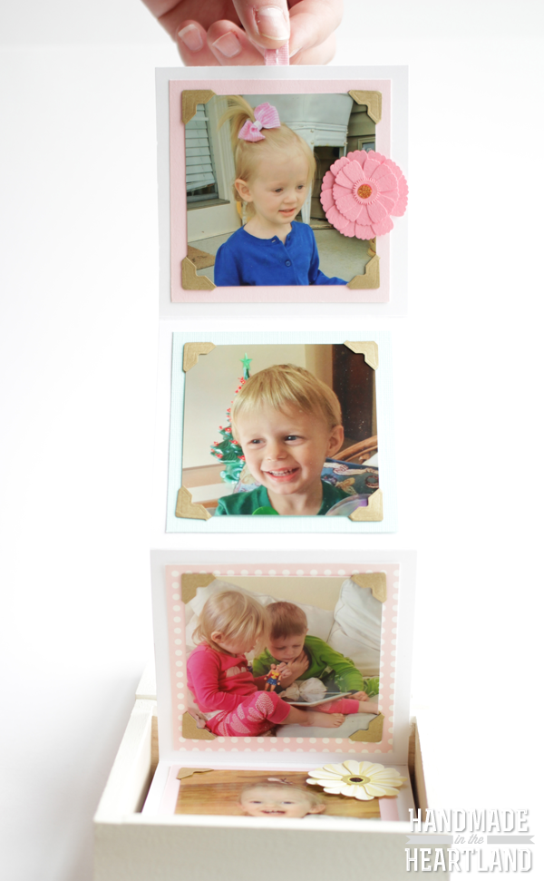 DIY Accordion Photo Box, HandmadeintheHeartland.com