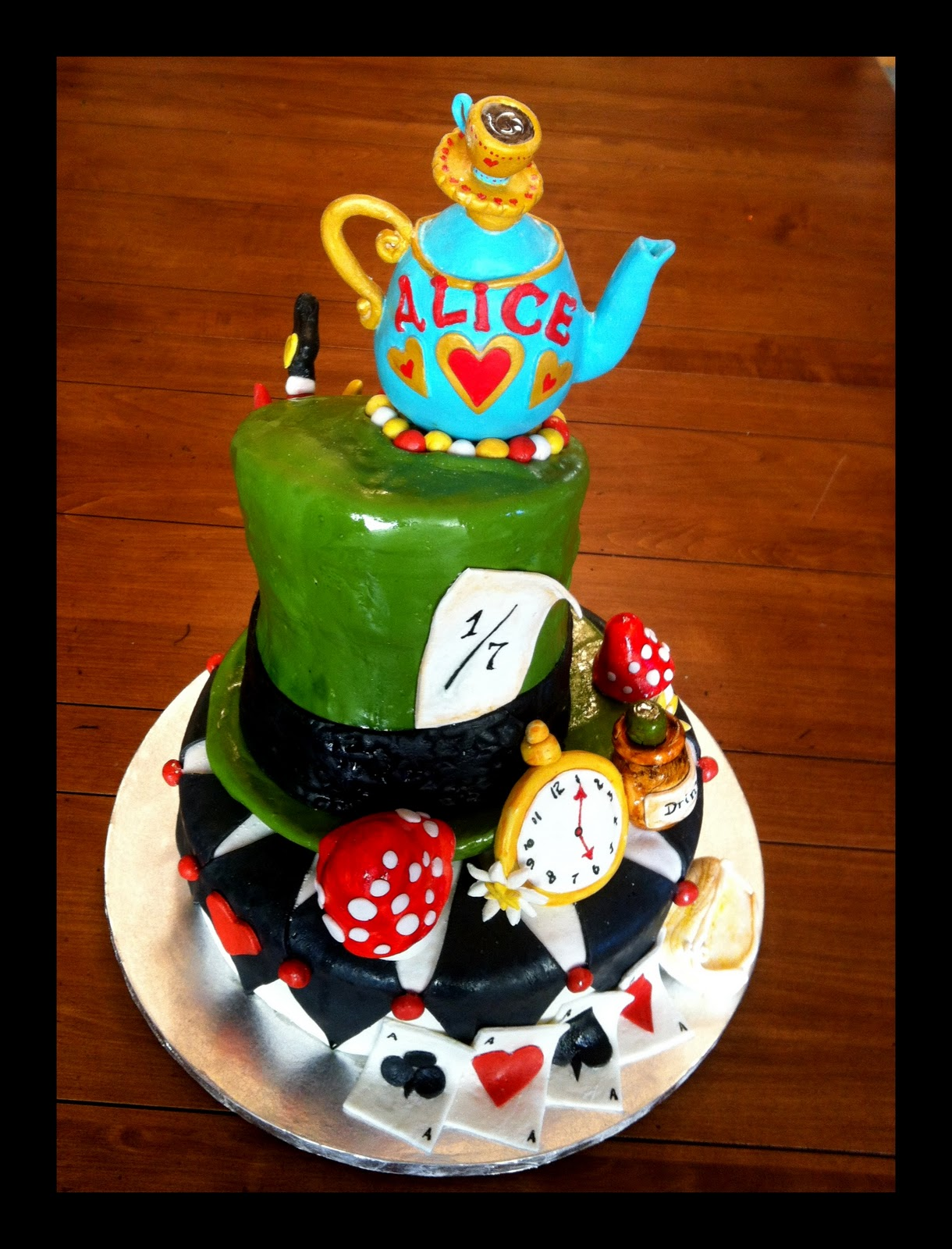 Hush Hush Sweet Charlotte Cakes ALICE IN WONDERLAND CAKE