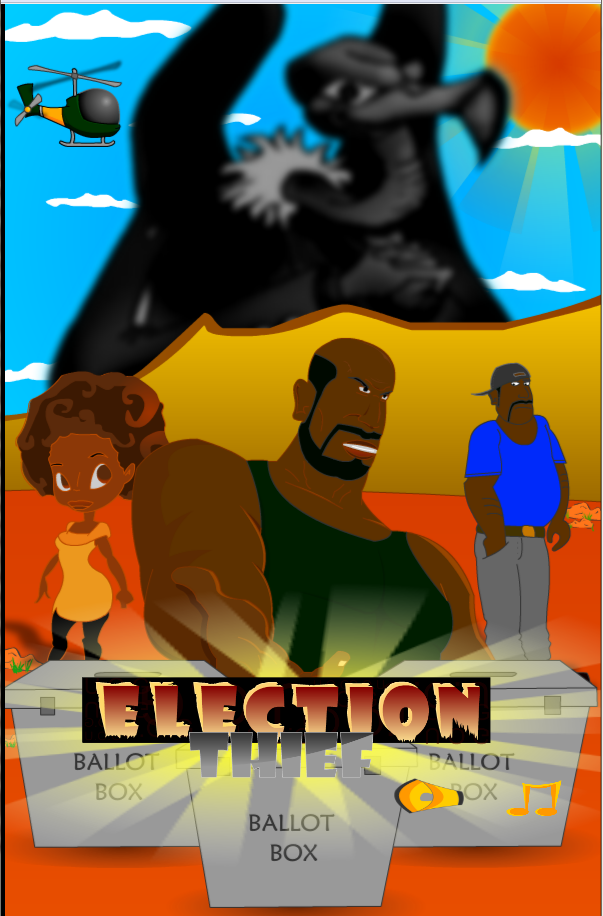 Election thief game poster