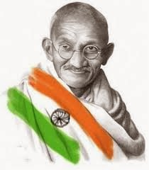 Mahatma Gandhi- Indian flag