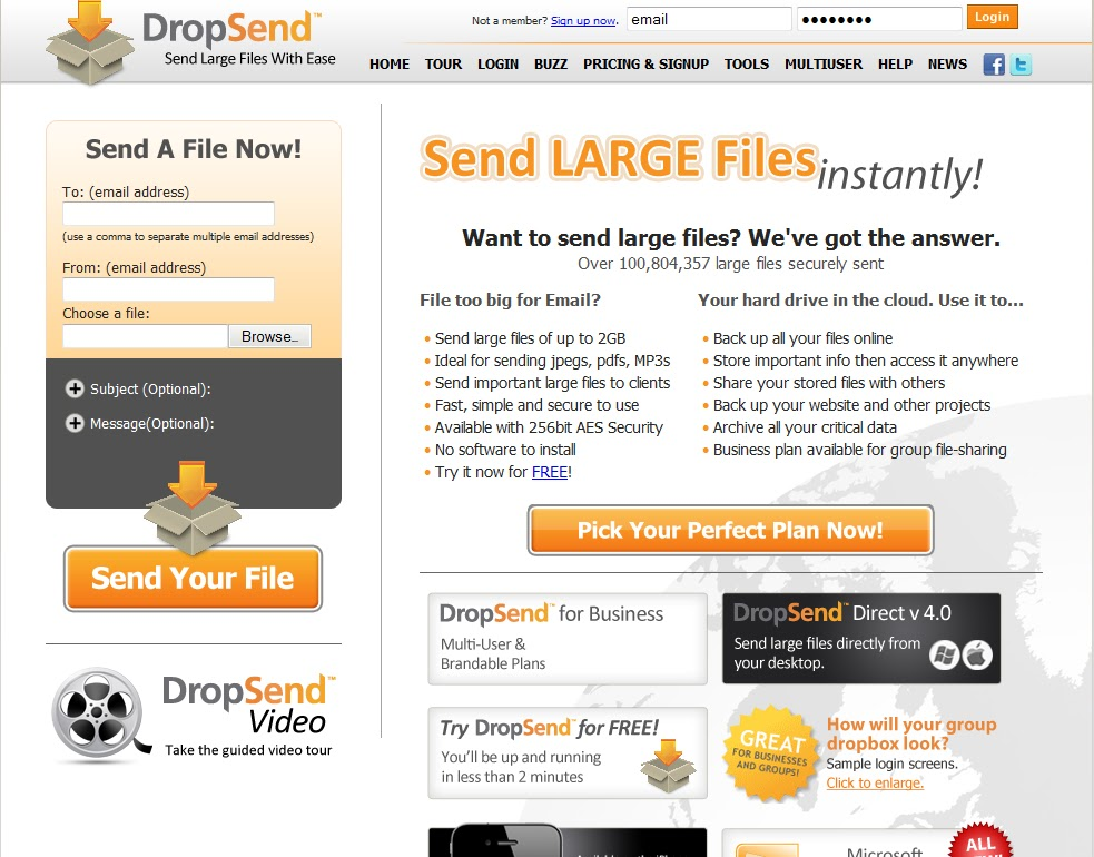 how to send very large files via email