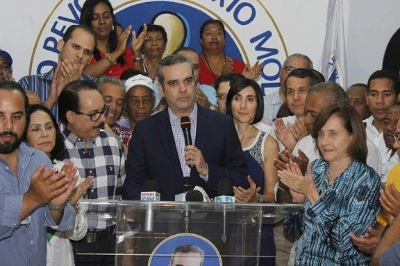 PRM: Abinader gana convención con el 71.23%; Hipólito obtiene 27.32