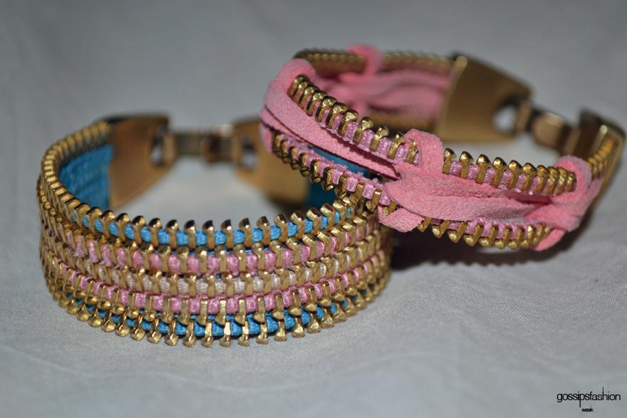 pulsera de cremallera zipper bracelet