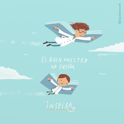 """Ilustración """"Maestro"""" - Aldo Tonelli"""
