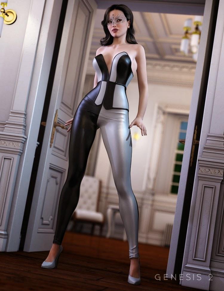 Corset Outfit Harli pour Genesis 2 Femme