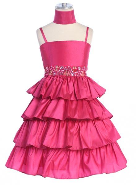 Hot Pink Party Dresses For Girls - Formal Dresses