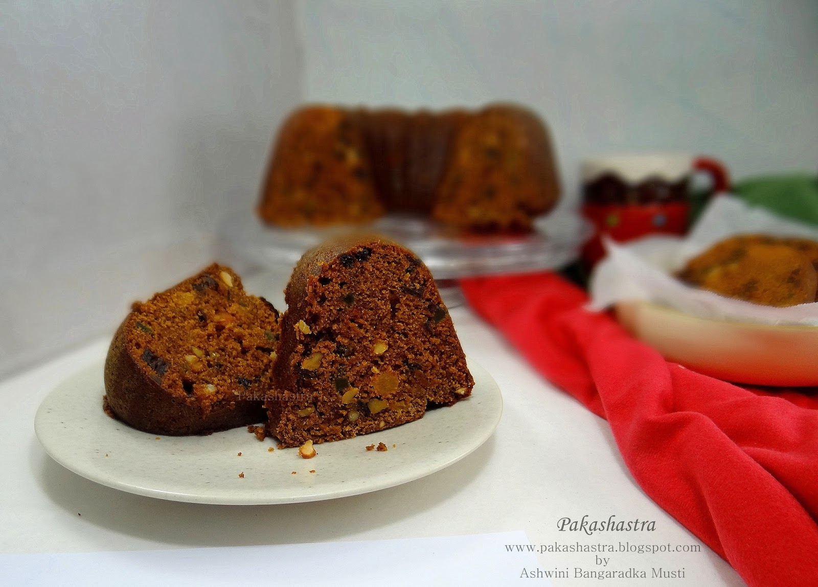 Christmas Cake Decorating Fruit And Nuts : Pakashastra: Eggless Plum Cake / Christmas Cake / Fruit ...