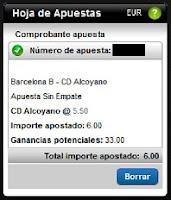 Apuestas Rosberg Fútbol– Liga Adelante Barcelona B-Alcoyano Titanbet