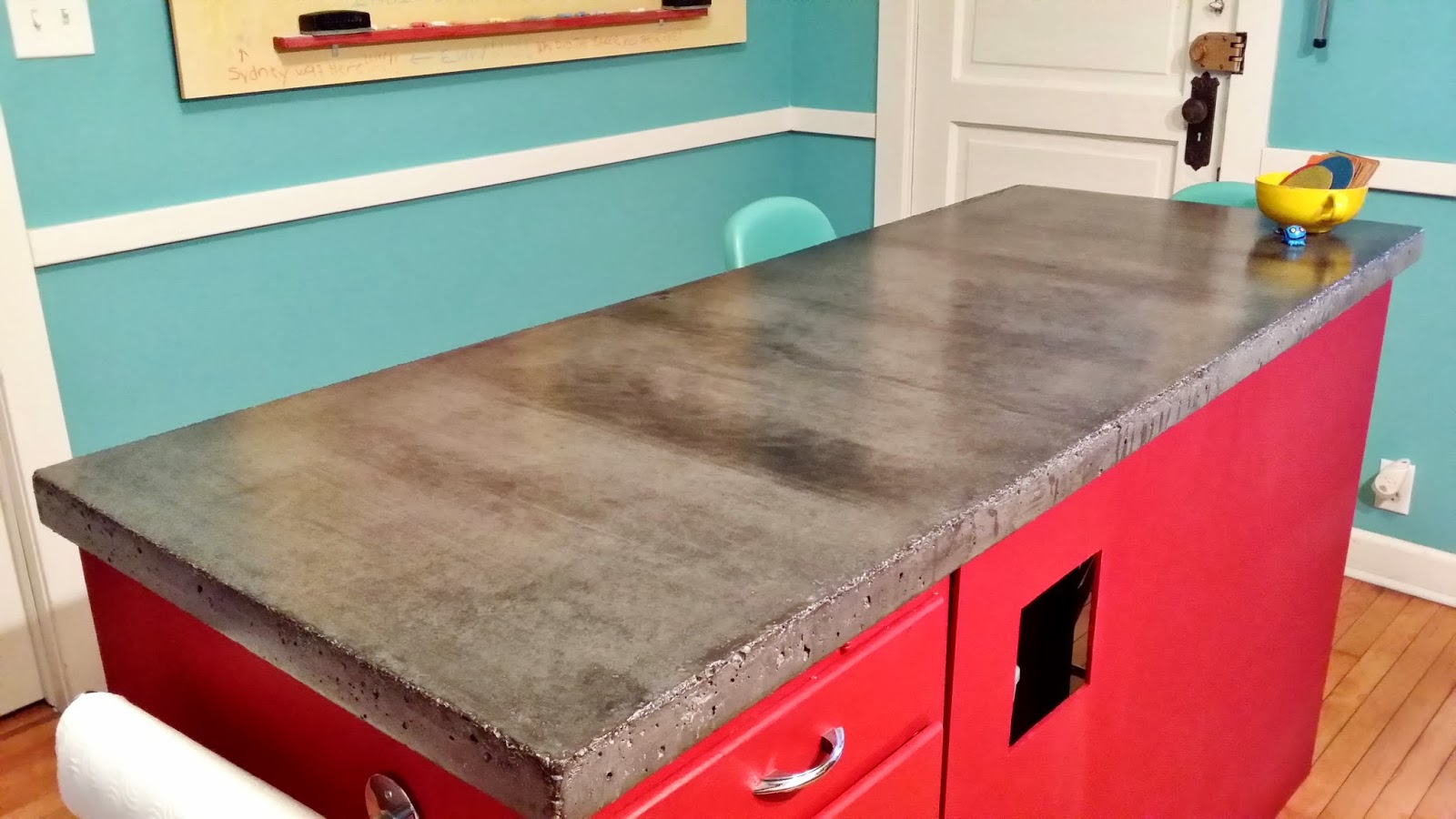 The Weekender: DIY Concrete Countertops Part II - 2.5 Year Update &  Resealing How-To