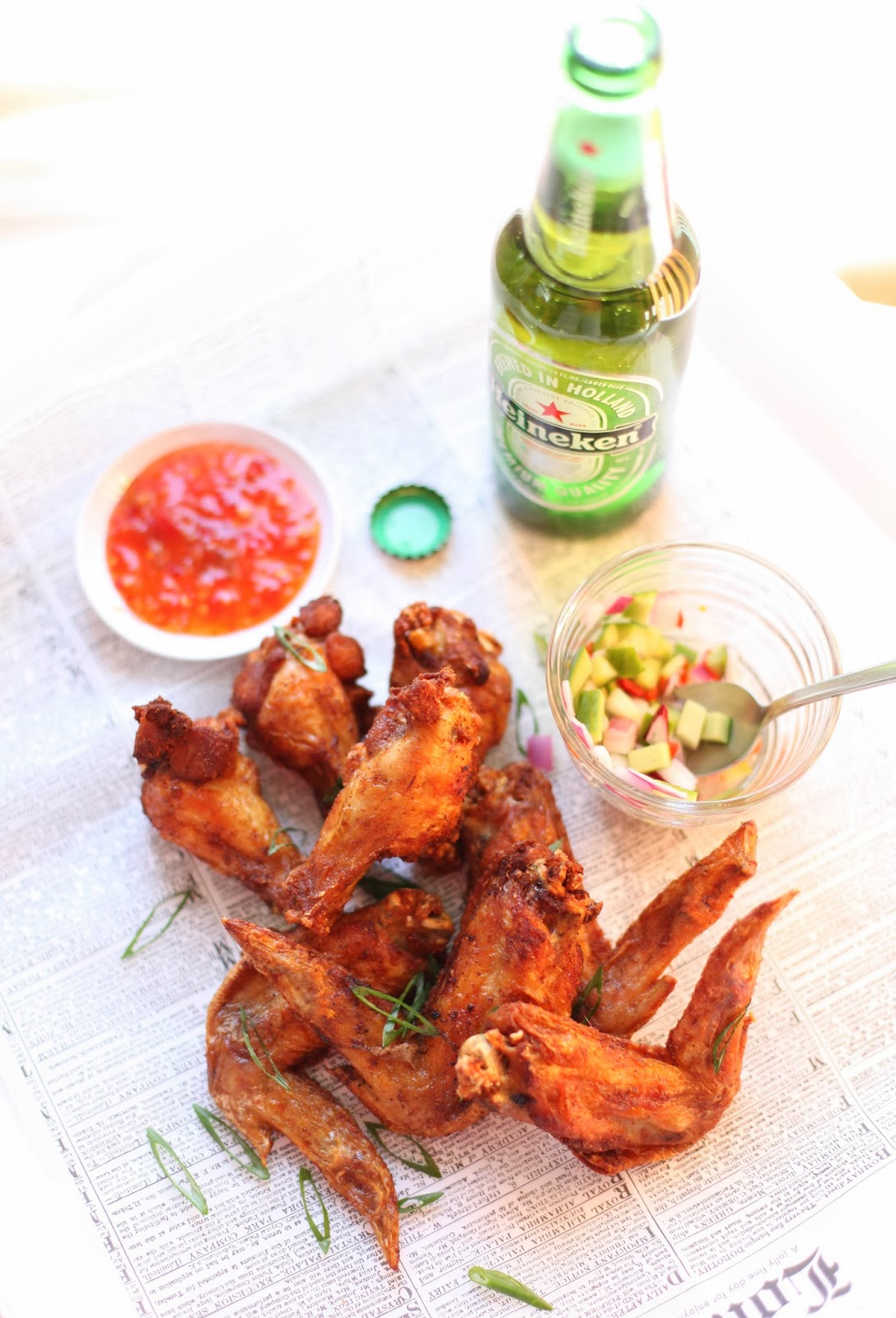 Chandara Creative: Deep-Fried Chicken Wings with Thai Pickled Cucumber ...