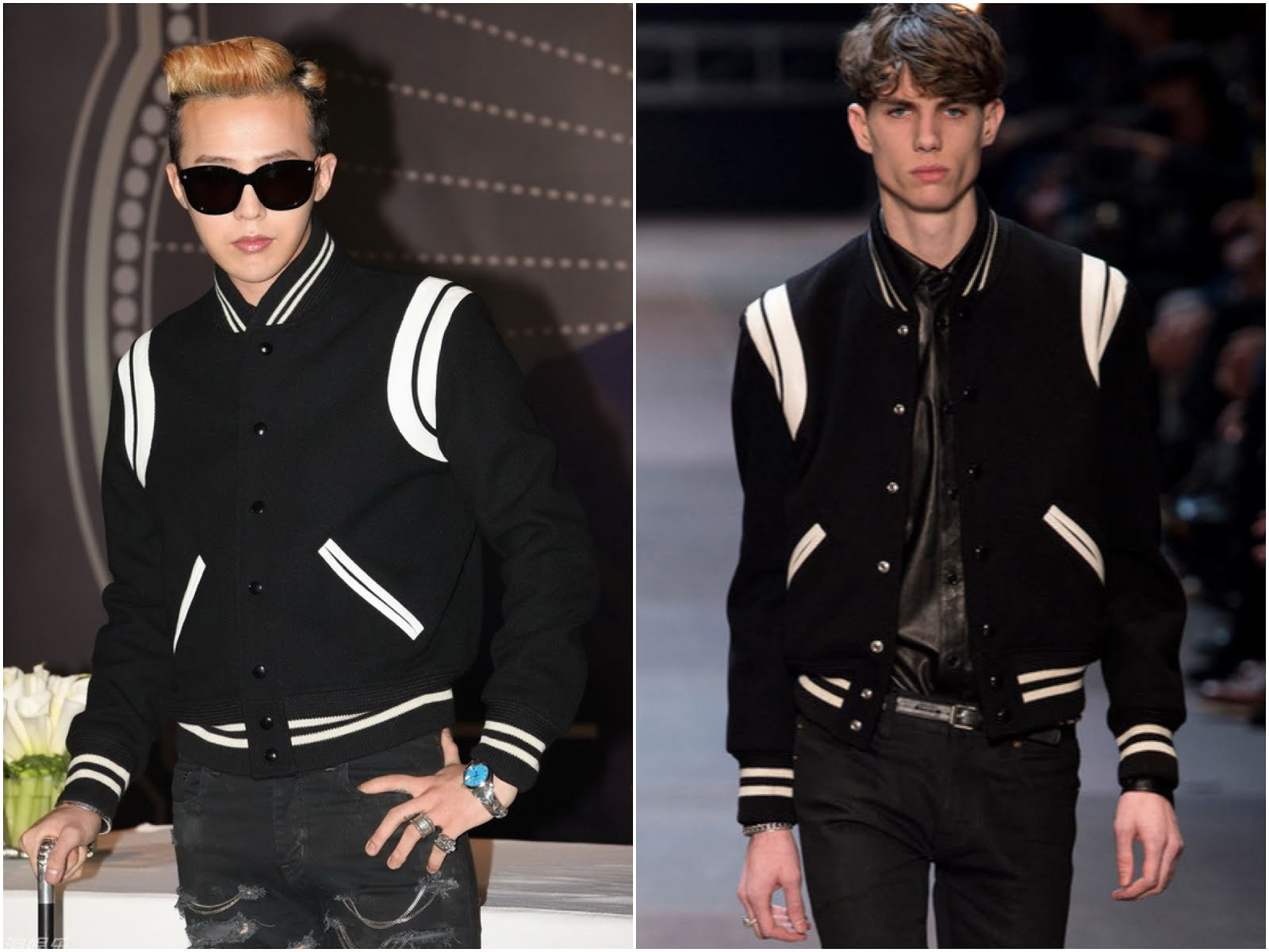 00O00 Menswear Blog: South Korean artiste G-Dragon from BigBang in Saint Laurent Menswear Fall Winter 2013 - Beijing Press Conference