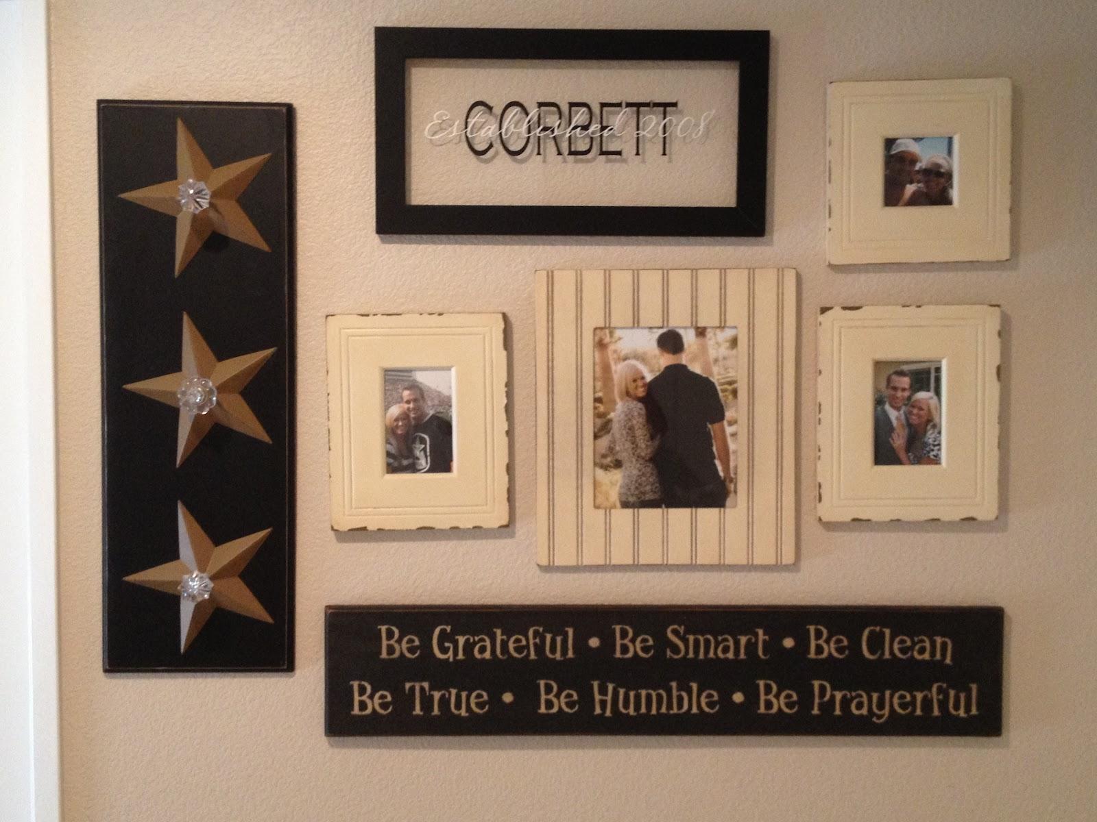 Arranging photos on a wall - Wall Arranging