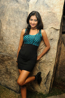 Akshitha spicy pics in Black Mini Gown at jai ho movie launch event