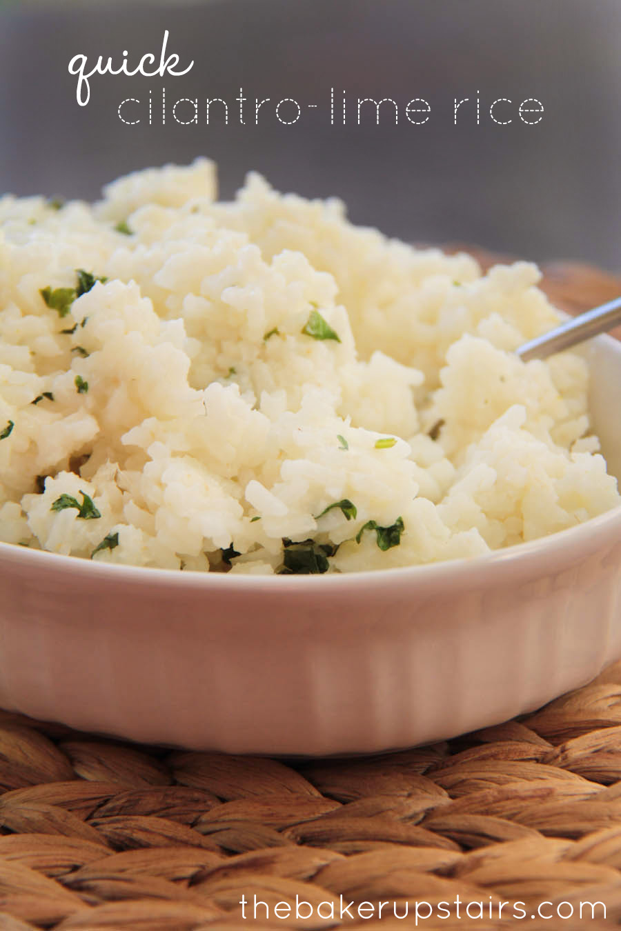 the baker upstairs: quick cilantro-lime rice
