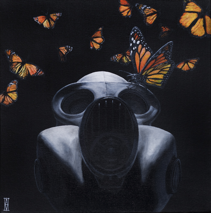 Doctor Ojiplático. Alec Huxley. Painting