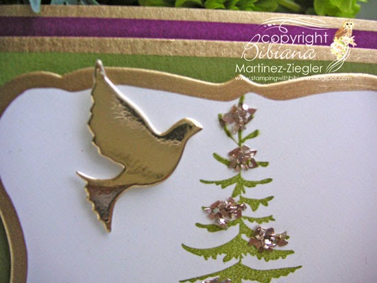 detail forest pine card