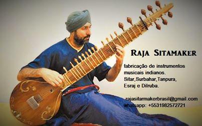 Raja Sitarmaker fabricação, reforma e venda de Sitar e outros instrumentos musicais Indianos