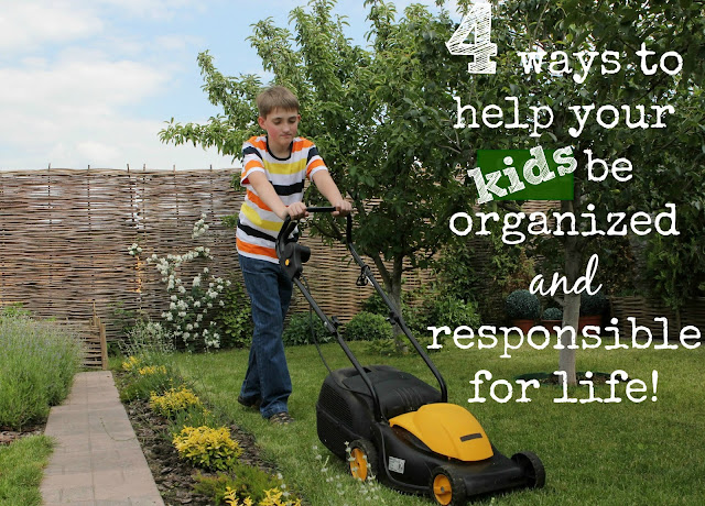 4 ways to help your kids be organized and responsible for life :: OrganizingMadeFun.com