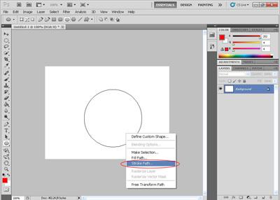 Cara Membuat Garis Melingkar Dengan Photoshop