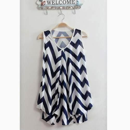 blusa rayas gorditas verano 2014
