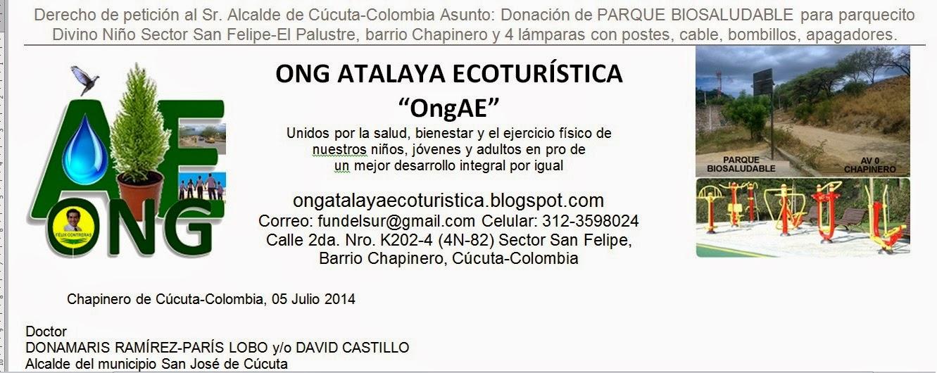 Piden al Alcalde de Cúcuta un Parque Biosaludable para Ecoparque Divino Niño en Chapinero | FelixNOTICIAS para OngAE