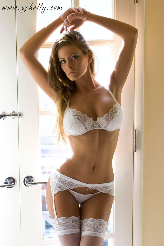 mariahcareyboobs holly weber sexy in white lingerie. Black Bedroom Furniture Sets. Home Design Ideas