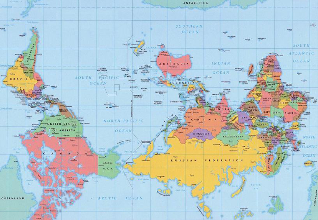 Lets go upside down world map possibly because we are european and europe is placed at the middle top of the map but north and up are not synonymous gumiabroncs Image collections