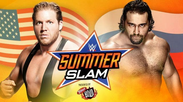 WWE SummerSlam 2014 » Jack Swagger vs Rusev (Flag Match)