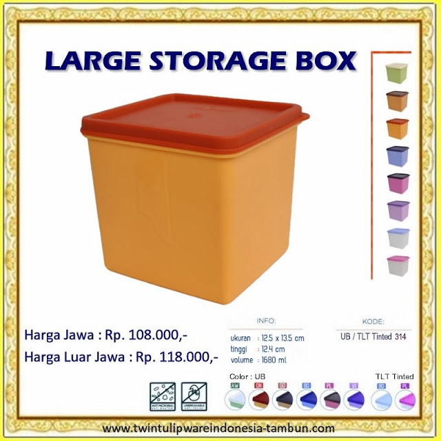 large storage box tulipware 2013