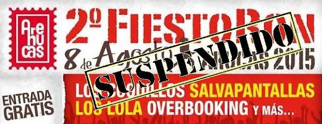 Fiestoron arucas 2015 suspendido y malestar