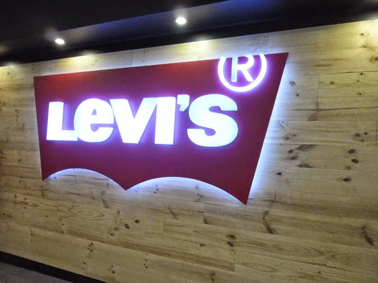 levis - Letrero Iluminado con leds blanca