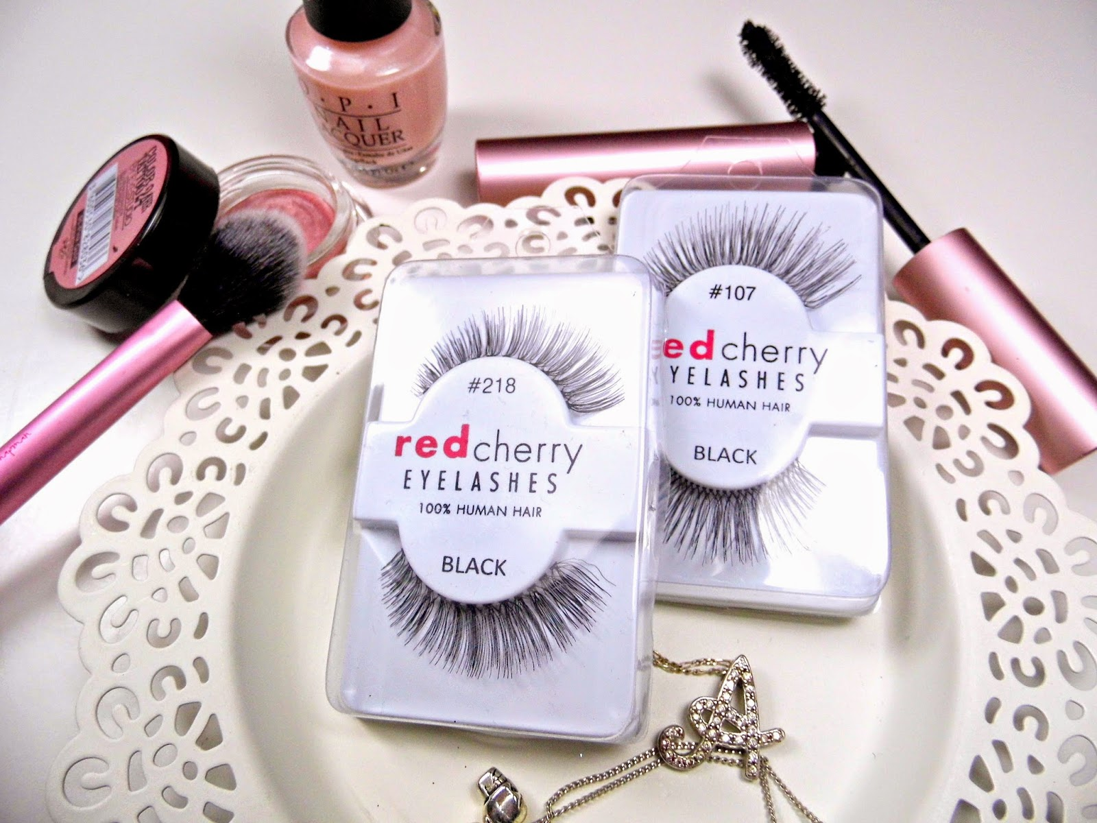 Red Cherry Lashes In 107 Frankie And 218 Bentley Chocolate