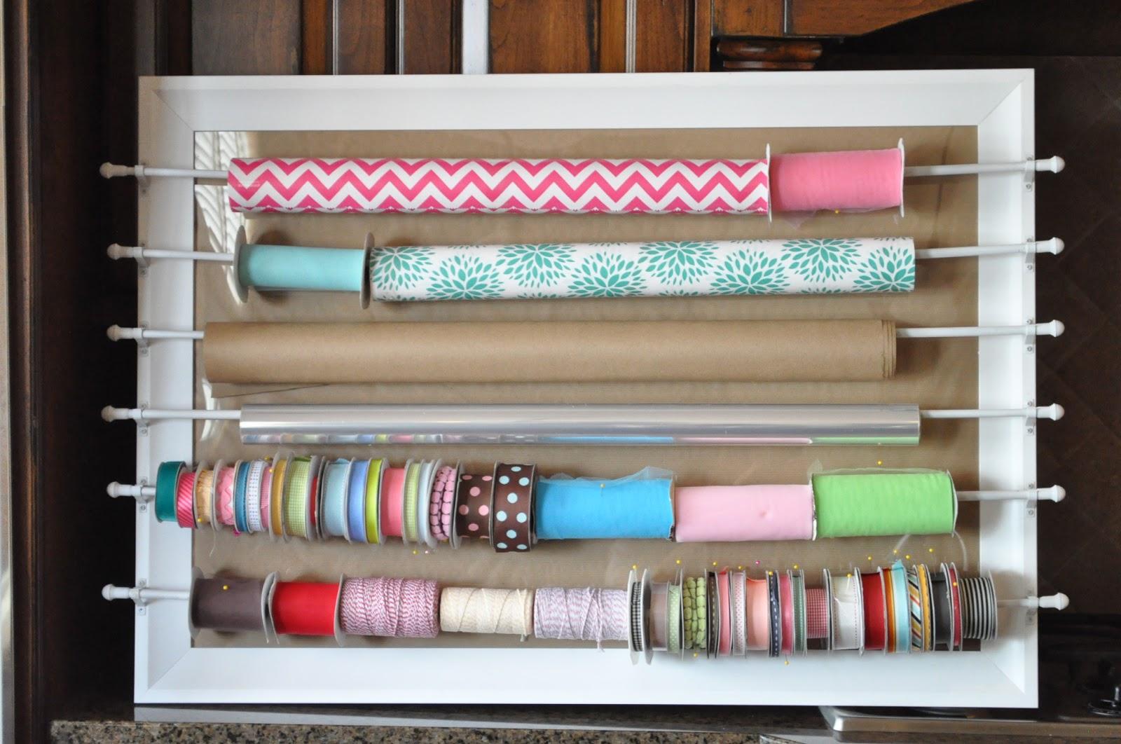 wrapping paper ribbon organizer video tutorial for joann fabrics