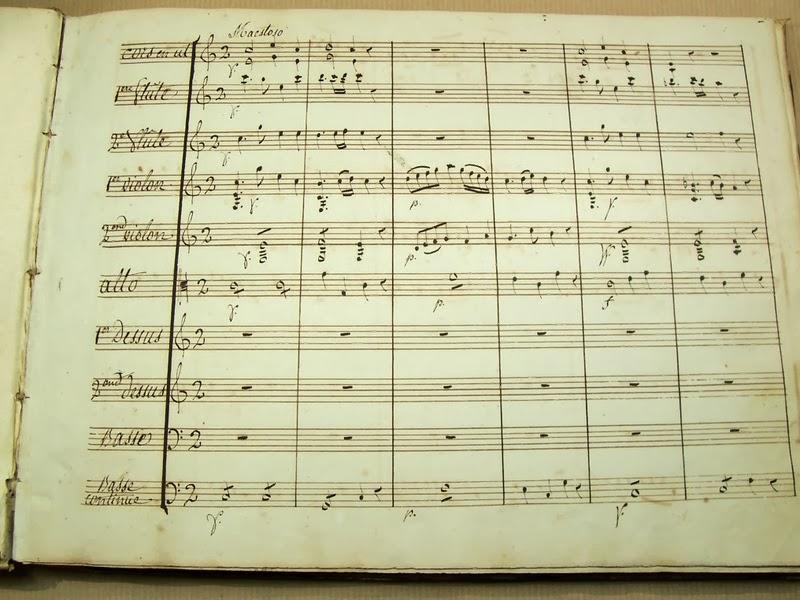 librairie ancienne et autres tr sors partition manuscrite de musique sacr e pour orchestre. Black Bedroom Furniture Sets. Home Design Ideas