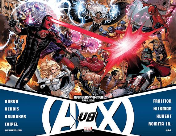 Marvel Comics Avengers vs X-Men April 2012 Poster