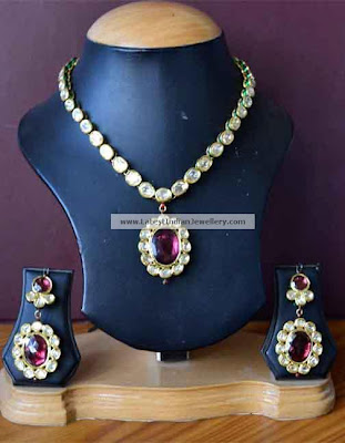 Polki Kundan gold Necklace set
