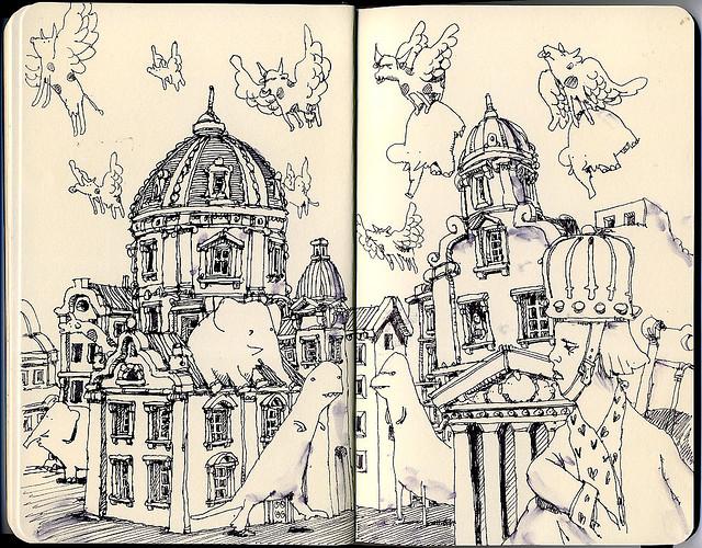 10-Dark-Days-Mattias-Adolfsson-Surreal-Architectural-Moleskine-Drawings-www-designstack-co