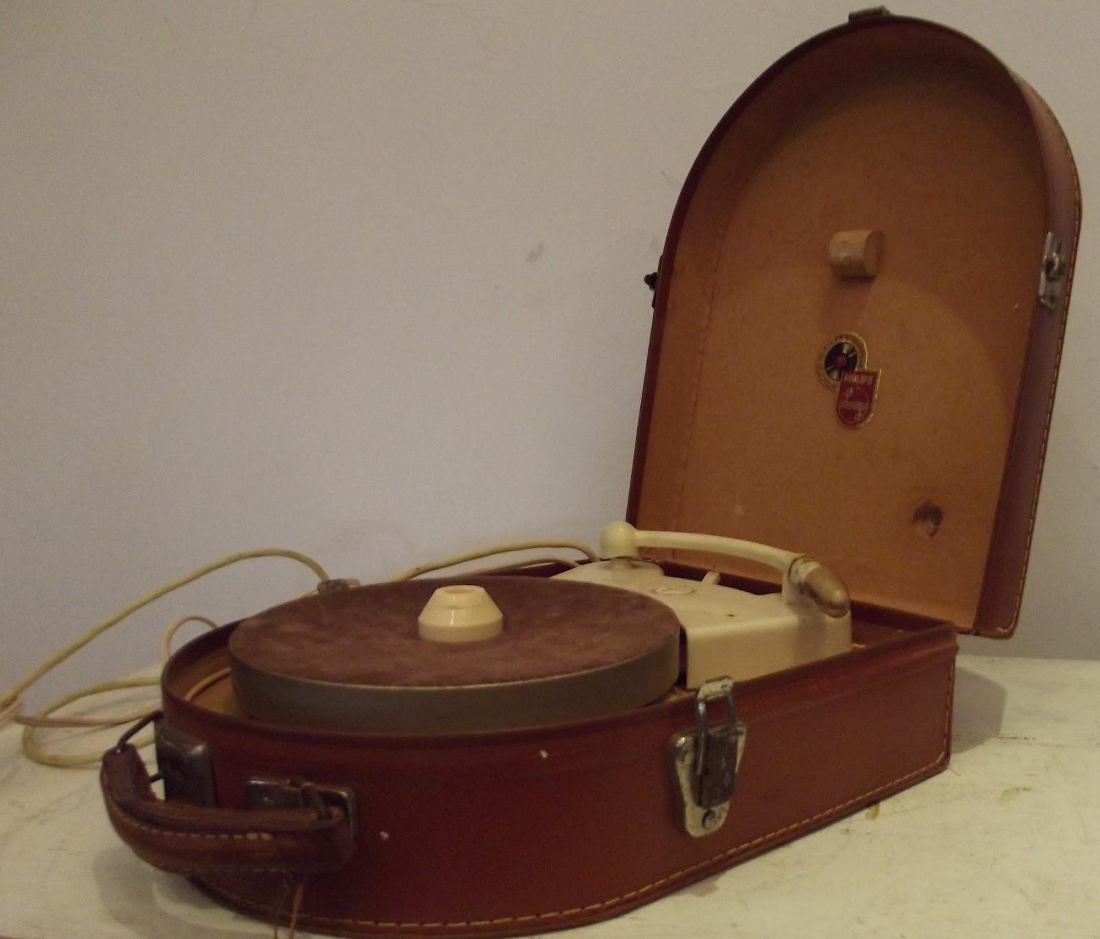 ancien lectrophone pick up tourne disque philips multigroove vintage 50s ebay. Black Bedroom Furniture Sets. Home Design Ideas