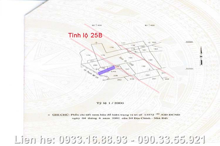 Bán Đất Mặt Tiền Tỉnh Lộ 25B, Quận 2
