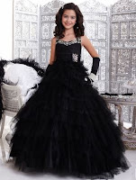 Black girls pageant dress