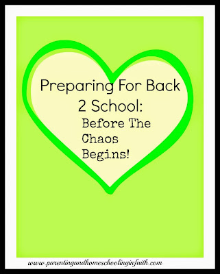 homeschooling preparation back to school