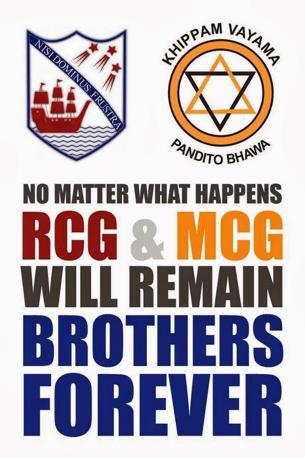 Richmond Mahinda Lovers Quarrel big match srilanka 2014 mcg rcg