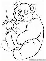 Mewarnai Gambar Panda Yang Lucu Dan Menggemaskan